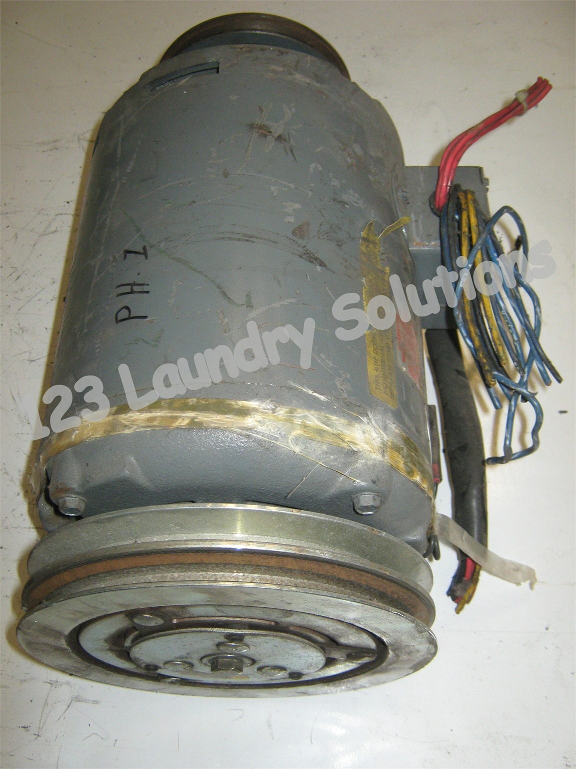 Milnor Washer Extractor Parts ~ Milnor front load washer lb motor ph v d zae